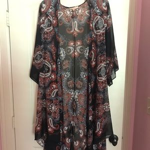 Women's large Gibson Latimer sheer duster